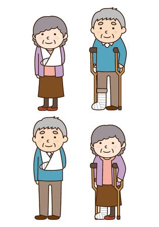 骨折人のイラスト  イラスト・ベクター素材