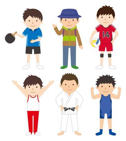 スポーツ セット男 02  イラスト・ベクター素材