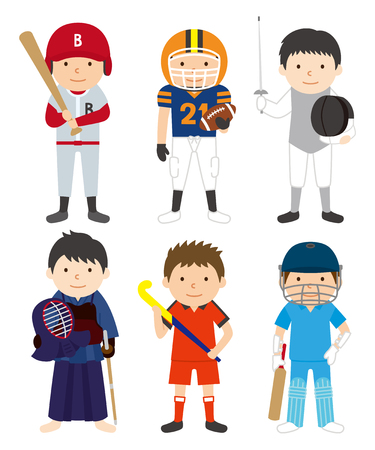 Sports set man 03 Иллюстрация