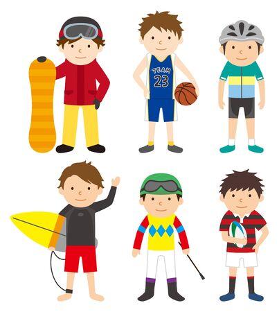 スポーツ セット男 04 写真素材 - 70842591