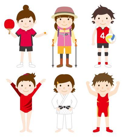 Conjunto de deportes mujer 02 Foto de archivo - 70842605