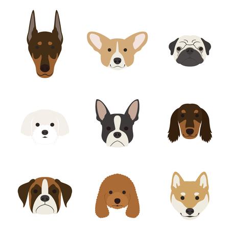 Juego de la cara del perro Foto de archivo - 75447005