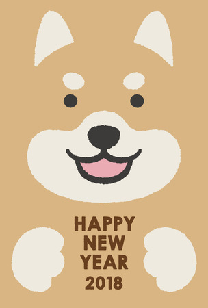 2018 new year card  イラスト・ベクター素材