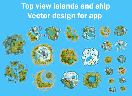 Alle eilanden oceaan zeekaart cartoon