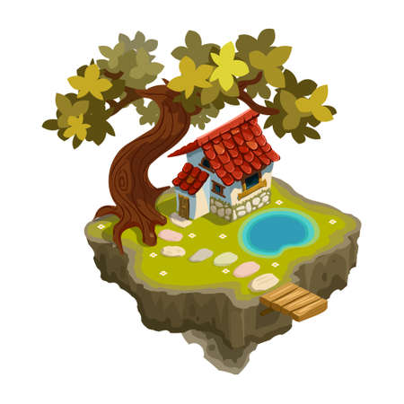 cubby: house with a tree