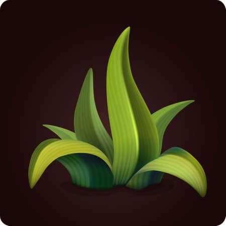 sedge: grass icon game element vector Illustration