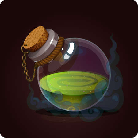 potion: bottle icon game element vector