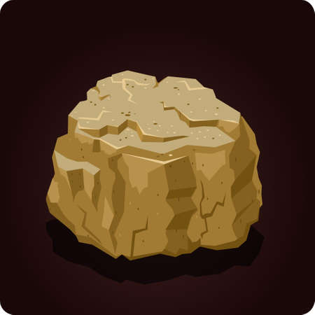stone  icon game element vector Иллюстрация