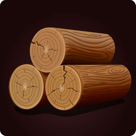 log: wood icon game element vector Illustration
