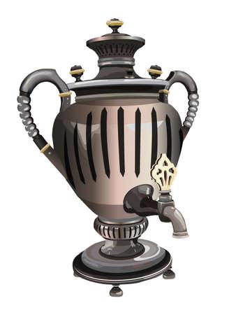 samovar: russian tea samovar nostalgia  traditiona Illustration
