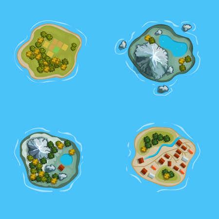 Isla océano mapa mar de la historieta Foto de archivo - 41799507