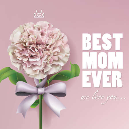 Happy Mothers Day Greeting Card. Vector illustrator eps10.