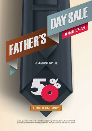 Fathers Day sale promotion design. Stock Illustratie