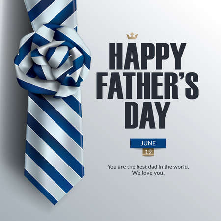 Fathers Day card design with necktie icon.