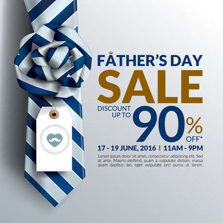 Beautiful Fathers Day sale promotion design.