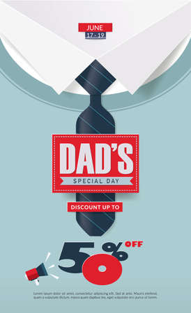 Fathers Day Sale Poster Design.