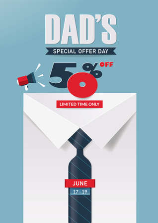 Father's Day Sale Poster Design.