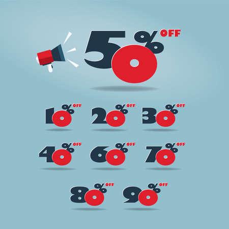 Set of Sale Discount Design.