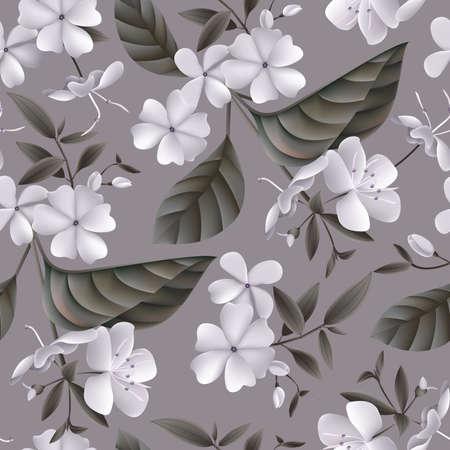 Beautiful Seamless Flowers Pattern.