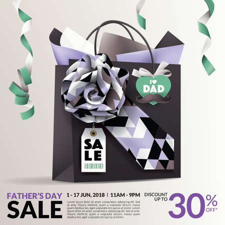 Beautiful Father's Day Sale Promotion Design