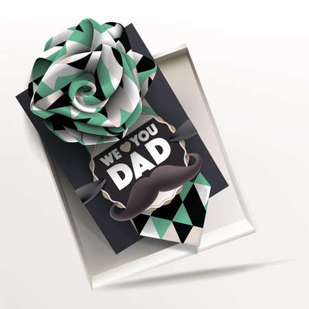 Beautiful Happy Fathers Day Greeting Card Stock Illustratie