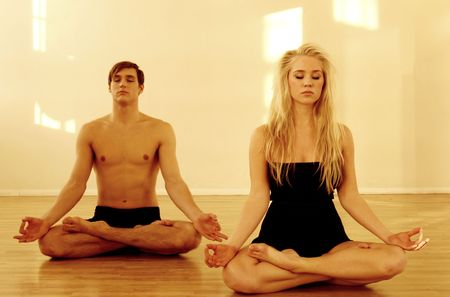 Yoga couple