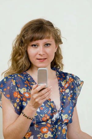 Pretty girl with mobile phone Stock Photo - 7093467