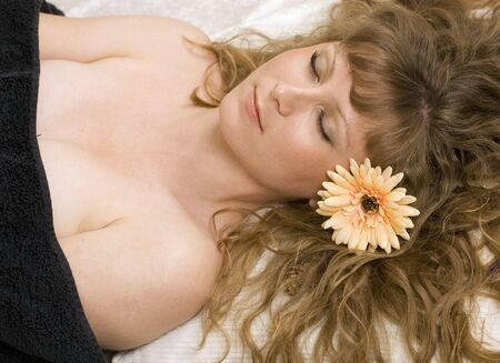 Young woman in nature spa Stock Photo - 7113320