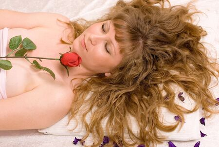 Pretty girl relaxing peacefully Stock Photo - 7146567