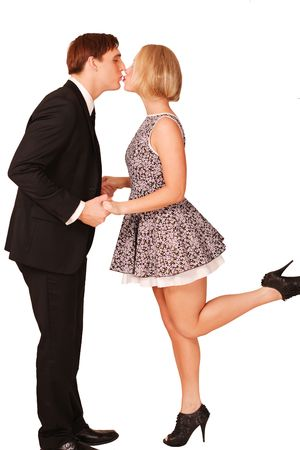 Quaint kiss Stock Photo - 7894051