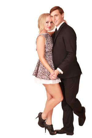 Cute dancing couple Stock Photo - 7894050