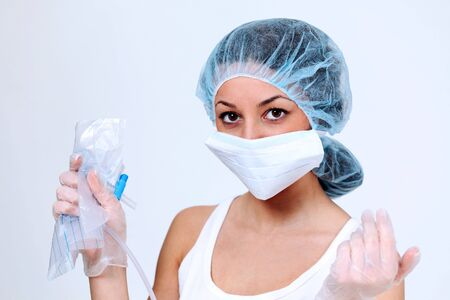 Healthcare worker on the job photo
