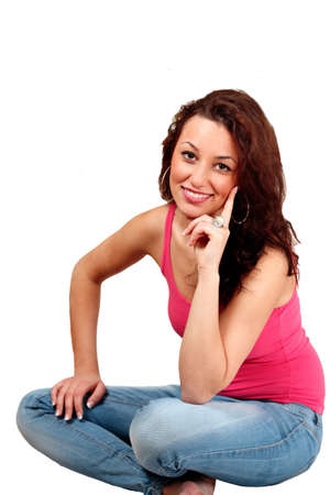 Pretty girl smiling at you Stock Photo - 8563051