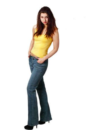 Pretty girl standing Stock Photo - 9246615