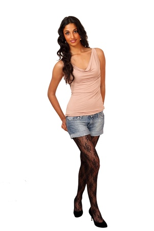 nylon: Tall sexy trendy indian girl Stock Photo