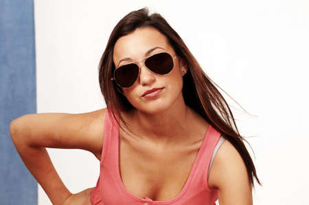 Trendy woman in sunglasses photo
