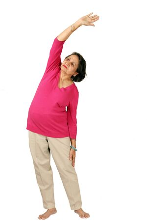 more mature: Mature woman daily exercise, see more images in this series