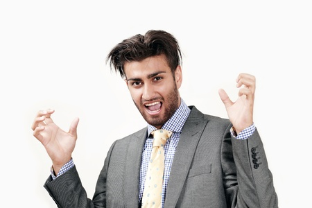 Angry businessman with frustrated expression Stock Photo - 10015850