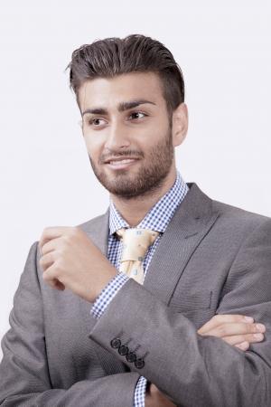 Smart businessman in conversation photo