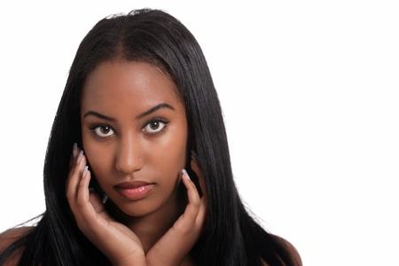 Sweet ethnic woman face portrait Stock Photo - 10709672