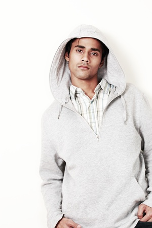 Teenager male in cool casuals, fashion portrait photo