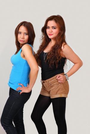 Young women sexy fashion attitude Stock Photo - 10910567