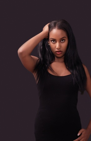 Beautiful black fashion model