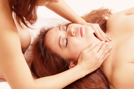 Massage sensual two women Stock Photo - 10959706