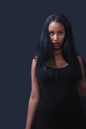 Hot black girl with pretty hair Stock Photo - 11110018