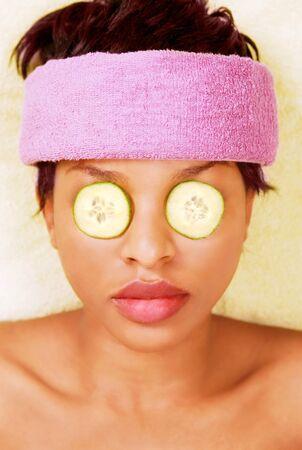 Pretty woman in spa facial treatment Stock Photo - 11240206