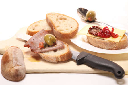 making a sandwich: Art of sandwich making Stock Photo