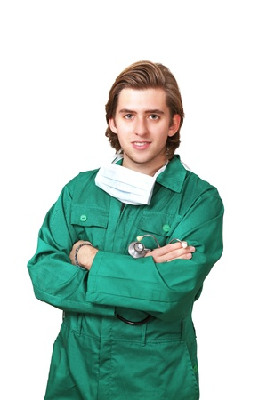 Young male surgeon in uniform photo