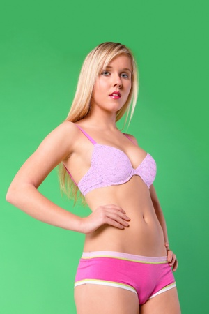 Young woman lingerie fashion portrait Stock Photo - 11791780