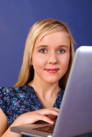 Pretty student working on laptop Stock Photo - 11791936